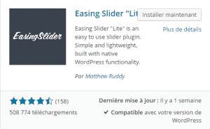 "Extension > Recherche >Easing Slider ""Lite"""