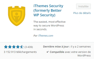 "Plugin ""ithemes security"""