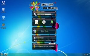 Interface de Linux Live Creator USB