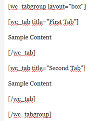 Shortcodes Tabs