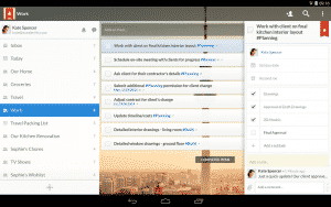 Interface de Wunderlist