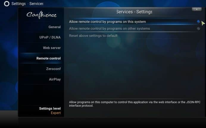 kodi-remote-control-allow-on-this-system