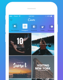 canva application mobile