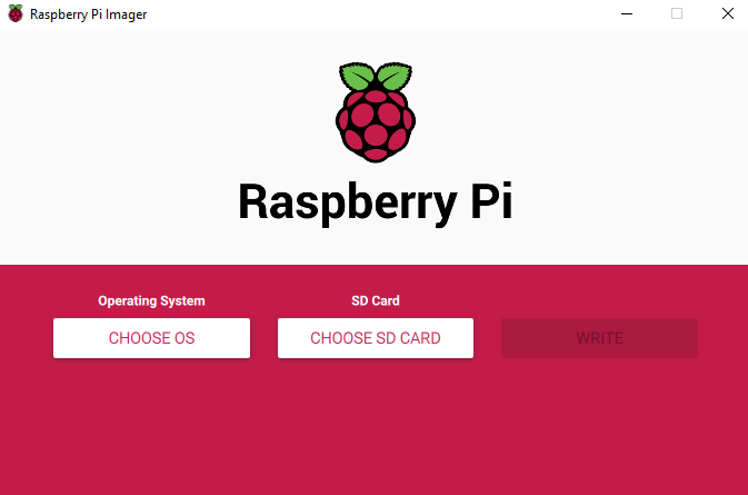 Interface de Raspberry-Pi Imager